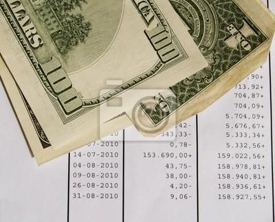dólares y cuenta bancaria