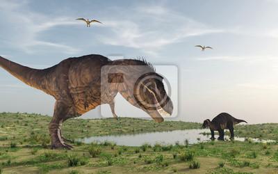 Cuadro Dos dinosaurios