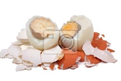 dos huevos sobre un fondo blanco