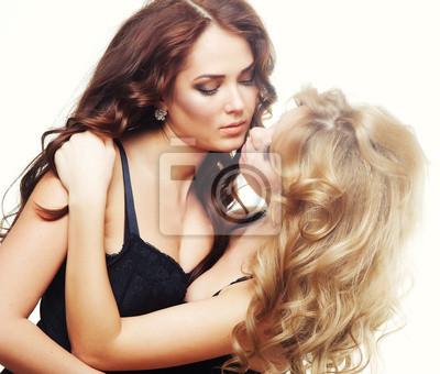 d4238ad393 Dos mujeres sensuales jovenes en ropa interior negro pinturas para ...