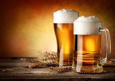 Cuadro Dos tazas de cerveza
