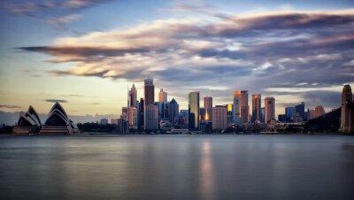 Cuadro Downtown Sydney en el amanecer