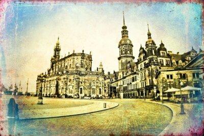 Cuadro Dresden vintage ilustración
