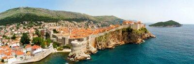 Cuadro Dubrovnik murallas panorama