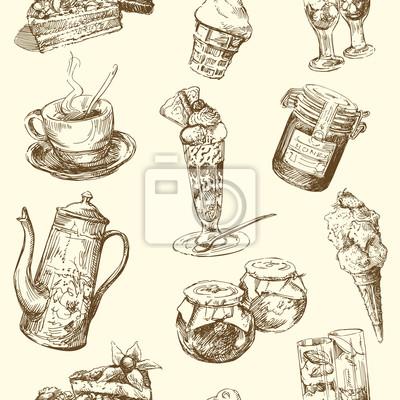 dulces, café, helados - sin patrón