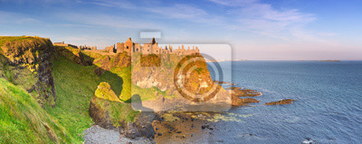 Dunluce Castle in Northern Ireland on a sunny morning