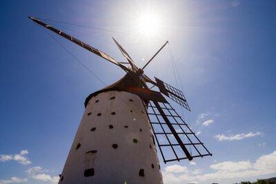 Cuadro Edificio clásico del molino de viento de la vendimia