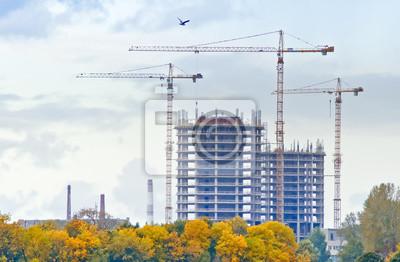Edificios en construcción, Riga, Letonia