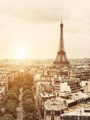 Cuadro Eiffel desde el Arco del Triunfo