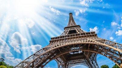 Cuadro Eiffelturm - Weitwinkel Aufnahme