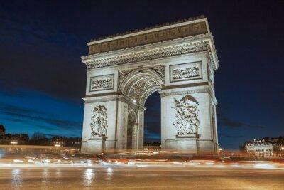Cuadro El Arco del Triunfo en la noche.