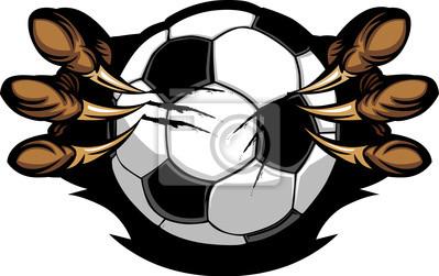 a78482647f412 El balón de fútbol imagen de eagle talons vector pinturas para la ...