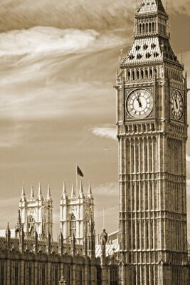 Cuadro El Big Ben, la Casa del Parlamento y el Puente de Westminster