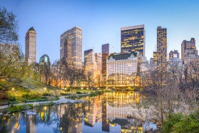 Cuadro El Central Park de Nueva York en la oscuridad