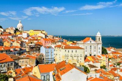Cuadro El centro de Lisboa, Portugal