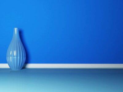 Cuadro el florero azul en la habitación azul