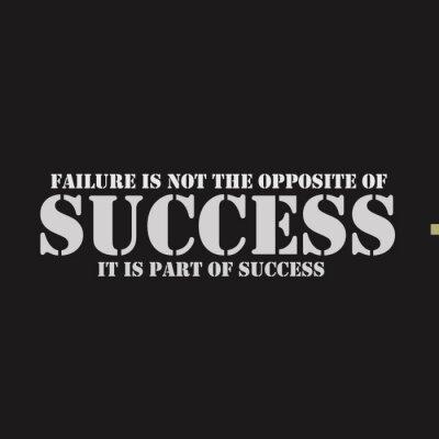 Cuadro El fracaso no es lo contrario del éxito. Es parte del éxito.