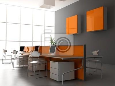 El interior de la oficina moderna pinturas para la pared • cuadros ...