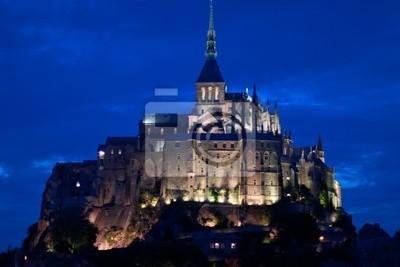 El Mont Saint Michel en la noche
