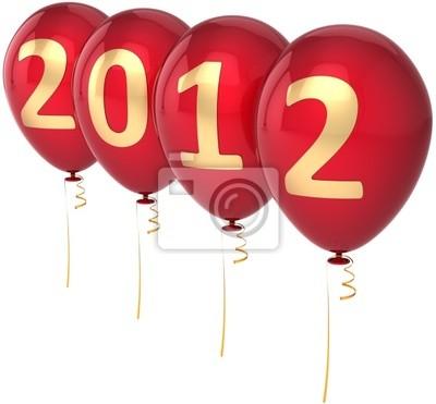 El nuevo partido de víspera de Año 2012 decoración