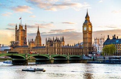 Cuadro El Palacio de Westminster en Londres en la noche - Inglaterra