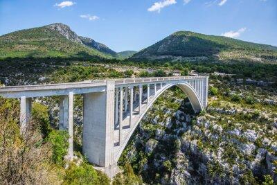 Cuadro El pont de Chaulière desde el que se organizaba el salto