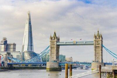 Cuadro El puente Fragmento y la Torre en el río Támesis en Londres, Reino Unido