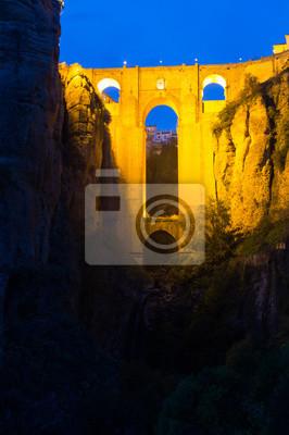 El Puente Nuevo en la noche. Ronda