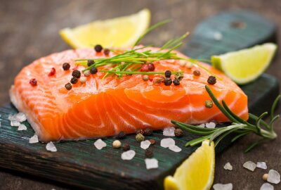 Cuadro El salmón fresco