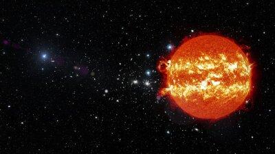 Cuadro El sol en el espacio exterior. Elementos de esta imagen proporcionados por la NASA
