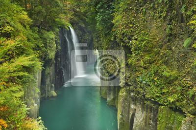 El Takachiho Gorge en la isla de Kyushu, Japón