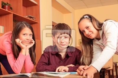 el trabajo en equipo de la escuela