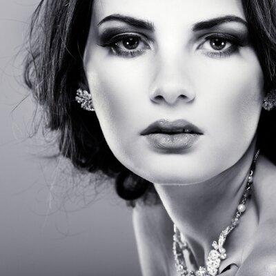 Cuadro elegante chica es del estilo de la moda. Decoración de la boda