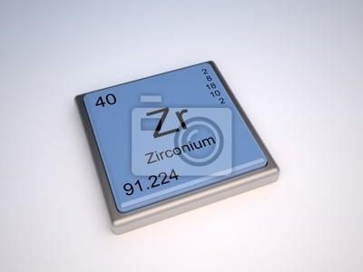 Elemento qumico de circonio de la tabla peridica con el smbolo cuadro elemento qumico de circonio de la tabla peridica con el smbolo de zr urtaz Choice Image
