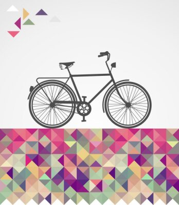 Cuadro Elementos geométricos urbanitas Retro bicicleta.