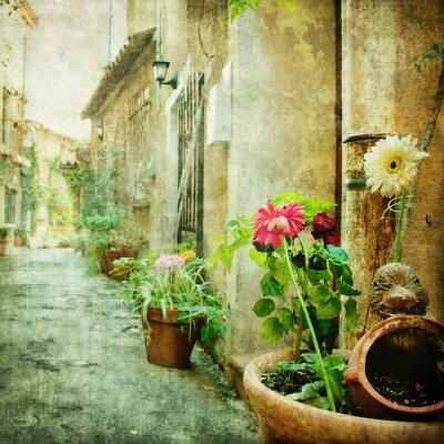 Cuadro encantadores patios, imagen de estilo retro