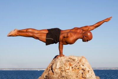 Cuadro equilibrar hombre fuerte