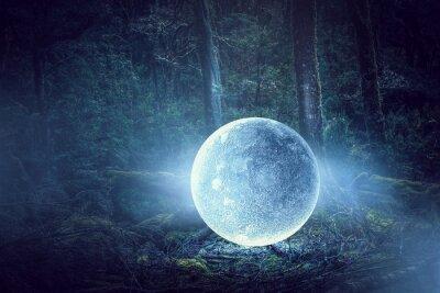 Cuadro Es la luna llena. Medios mixtos
