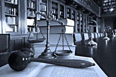 Cuadro Escalas decorativas de la justicia en la biblioteca