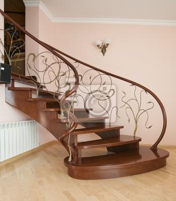 Escaleras Curvas Pinturas Para La Pared Cuadros Historia Parquet - Cuadros-para-escaleras