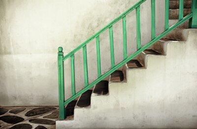 Cuadro Escaleras sucias con pasamanos