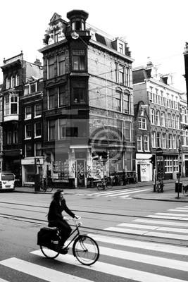 Cuadro escena de la calle amsterdam