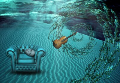Cuadro Escena subacuática Surrealista