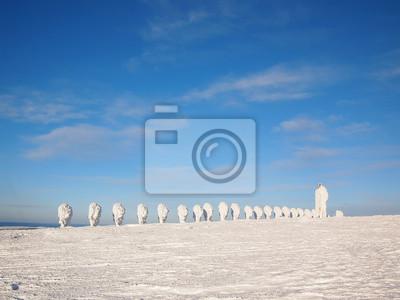 Esculturas de nieve en Laponia