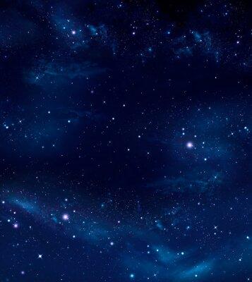Cuadro Espacio profundo, fondo azul abstracto