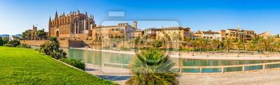 España Palma de Mallorca histórico centro de la ciudad vista panorámica