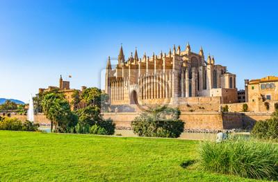 España Palma de Mallorca vista de la histórica Catedral La Seu