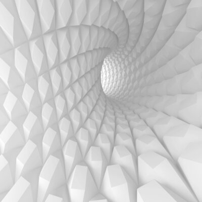 Cuadro Espiral abstracto Túnel Render
