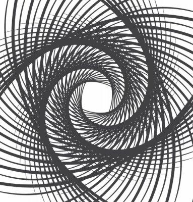 Cuadro Espiral giro resumen de antecedentes en blanco y negro
