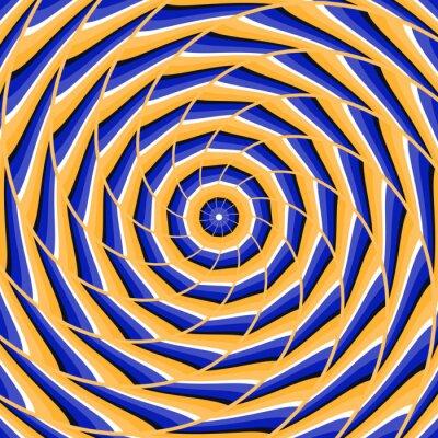 Cuadro Espiral que tuerce al centro. Fondo abstracto de la ilusión óptica del vector.